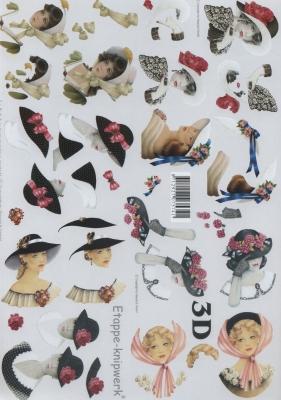 3D Bogen Damen, klein, - Format A4,  Menschen - Personen,  Le Suh,  3D Bogen,  Frau