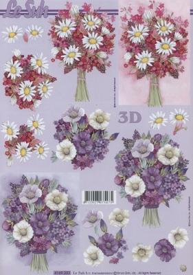 3D Bogen Format A4,  Blumen -  Sonstige,  Le Suh,  Sommer,  3D Bogen,  Blumenstrauß