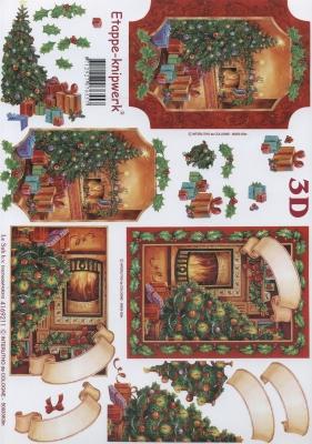 3D Bogen Format A4,  Weihnachten - Weihnachtsbaum,  Weihnachten,  3D Bogen