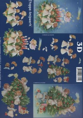 3D Bogen Format A4,  Weihnachten - Weihnachtsbaum,  Weihnachten - Engel,  Le Suh,  Weihnachten,  3D Bogen,  Engel,  Weihnachtsbaum