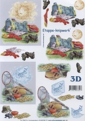 3D Bogen Fußball - Format A4, Sport - Fußball,  Sport - Angeln,  Le Suh,  3D Bogen,  angeln,  Fußball