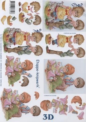 3D Bogen Format A4,  Menschen - Kinder,  Le Suh,  3D Bogen,  Kinder,  Jungen,  Mädchen