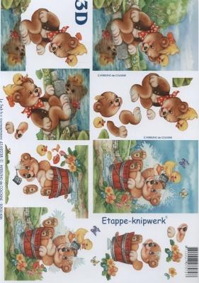 3D Bogen Format A4,  Le Suh,  3D Bogen,  Teddybär