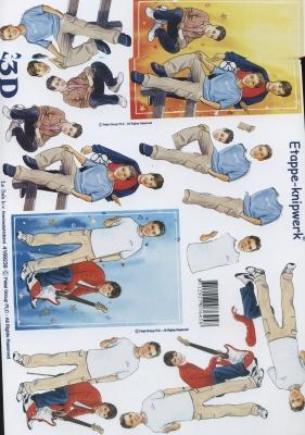 3D Bogen Format A4 - Jungen,  Le Suh,  Menschen - Personen,  3D Bogen,  Personen