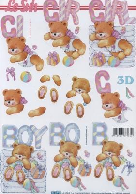 3D Bogen Format A4 Boy + Girl