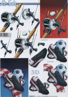 3D Bogen Fußballschuhe - Format A4,  Sport - Fußball,  Le Suh,  Sport - Angeln,  3D Bogen,  Fussball,  Angeln