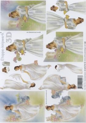 3D Bogen Mädchen - Format A4,  Menschen - Personen,  Le Suh,  Ereignisse - Hochzeit,  3D Bogen,  Hochzeit,  Personen
