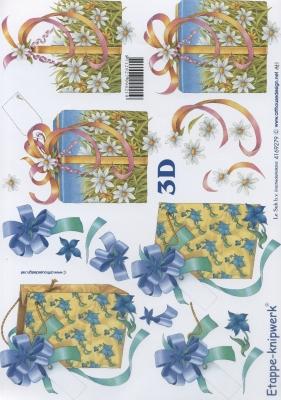 3D Bogen Format A4,  Le Suh,  Blumen -  Sonstige,  3D Bogen,  Schleife,  Blumen