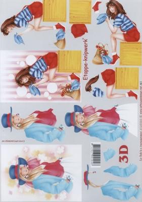 3D Bogen Format A4 - Ladys,  Menschen - Personen,  Le Suh,  3D Bogen,  Frau