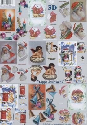 3D Bogen Weihnacht - klein - Format A4,  Weihnachten - Weihnachtsmann,  Le Suh,  Weihnachten,  3D Bogen,  Engel