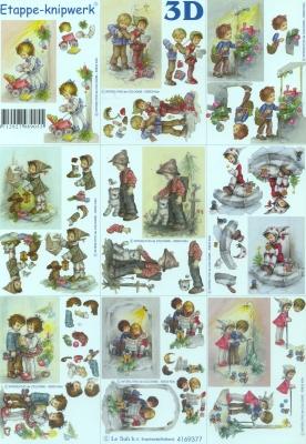 3D Bogen Format A4,  Menschen - Kinder,  Le Suh,  Winter,  3D Bogen,  Kinder
