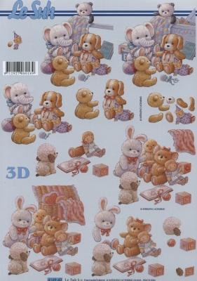 3D Bogen Plüschtiere - Format A4,  Spielsachen - Stofftiere,  Le Suh,  3D Bogen,  Teddybär