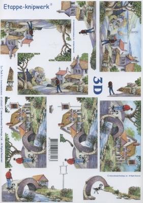 3D Bogen Landschaftliches - Format A4,  Sonstiges -  Sonstiges,  Le Suh,  Sommer,  3D Bogen,  Landschaft