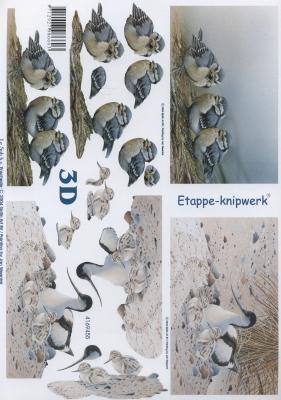 3D Bogen Format A4,  Tiere - Vögel,  Le Suh,  3D Bogen,  Vögel