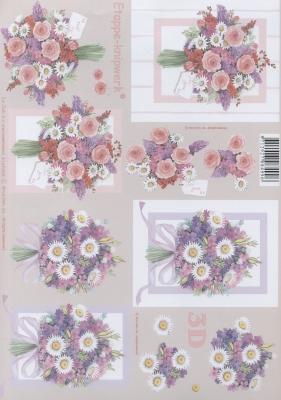 3D Bogen Strauß - Format A4,  Blumen -  Sonstige,  Le Suh,  Sommer,  3D Bogen,  Blumenstrauß