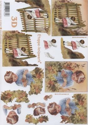 3D Bogen Mädchen - Format A4,  Menschen - Kinder,  Le Suh,  Sommer,  3D Bogen,  Mädchen