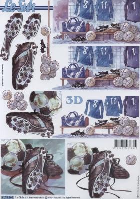 3D Bogen Fußballschuhe - Format A4,  Sport - Fußball,  Le Suh,  3D Bogen,  Fußball