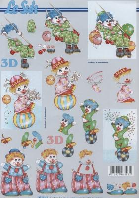 3D Bogen Clownchen klein - Format A4,  Spielsachen - Puppen,  Le Suh,  3D Bogen,  Clown