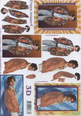 3D Bogen Format A4,  Menschen - Personen,  Le Suh,  3D Bogen,  Jungen