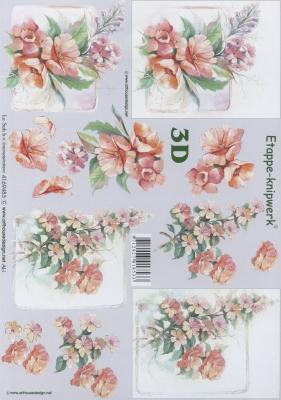 3D Bogen Format A4,  Blumen -  Sonstige,  Le Suh,  Sommer,  3D Bogen,  Blumen