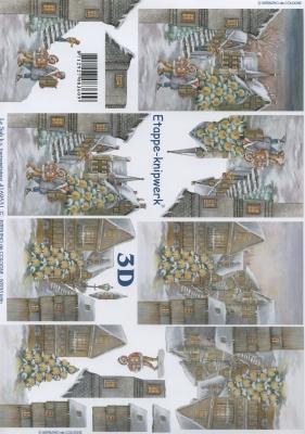 3D Bogen Format A4,  Sonstiges -  Sonstiges,  Le Suh,  Winter,  3D Bogen,  Stadt,  Häuser
