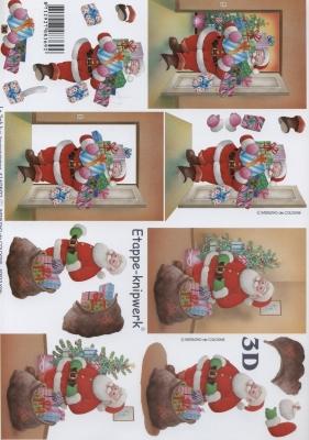 3D Bogen  - Format A4, Weihnachten - Geschenke,  Weihnachten - Weihnachtsmann,  Le Suh,  Weihnachten,  3D Bogen,  Weihnachtsmann,  Geschenke