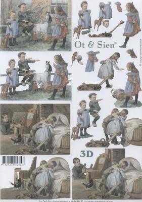 3D Bogen Format A4,  Menschen - Kinder,  Le Suh,  3D Bogen,  Kinder
