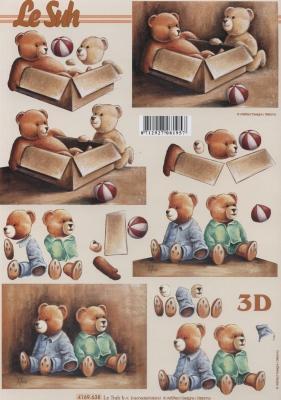 3D Bogen Bärchen - Format A4,  Spielsachen - Stofftiere,  Le Suh,  3D Bogen,  Teddybär