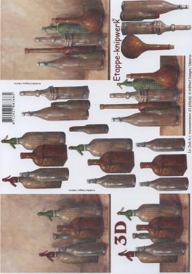 3D Bogen Flaschen - Format A4,  Sonstiges -  Sonstiges,  Le Suh,  3D Bogen,  Flaschen