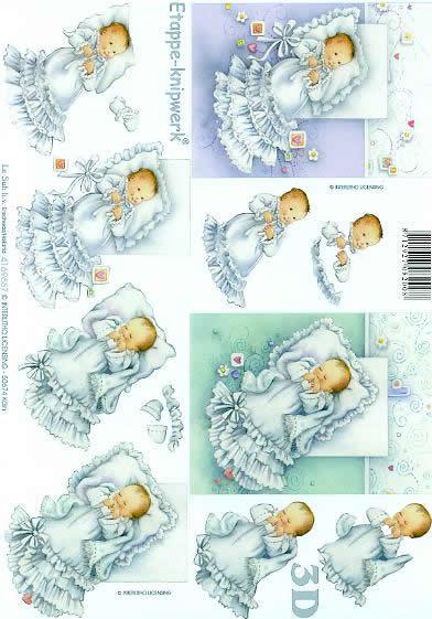 3D Bogen Baby`s im Taufkleid - Format A4,  Ereignisse - Feier,  Le Suh,  3D Bogen,  Baby`s im Taufkleid,  Taufe
