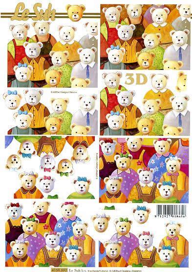 3D Bogen  - Format A4,  Le Suh,  3D Bogen,  Teddybären