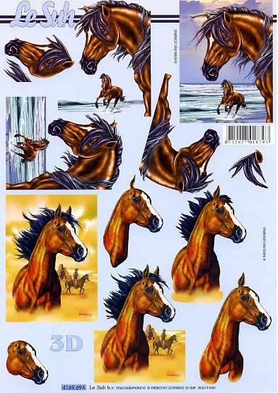 3D Bogen Pferde - Format A4,  Tiere - Pferde,  Le Suh,  3D Bogen,  Pferde