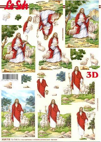 3D Bogen Religie - Format A4,  Weihnachten,  Le Suh,  Weihnachten,  3D Bogen,  Jesus