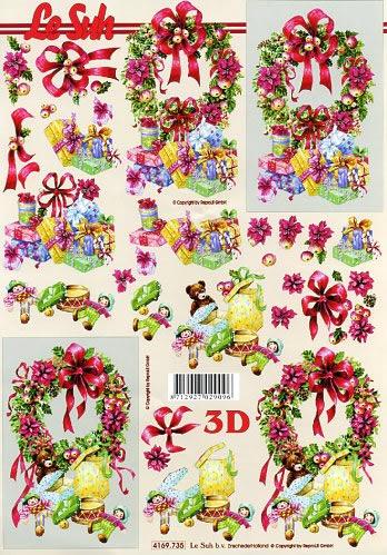 3D Bogen Weihnachtskränze - Format A4,  Spielsachen - Puppen,  Le Suh,  3D Bogen,  Weihnachtskränze
