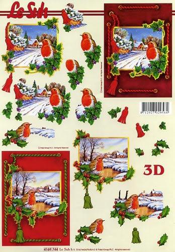 3D Bogen Robin - Format A4, Tiere - Vögel,  Winter - Schnee,  Le Suh,  Winter,  3D Bogen,  Schnee,  Vögel