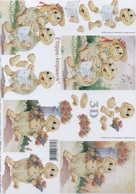 3D Bogen verliebte Schildkröte Format A4,  Tiere -  Sonstige,  Le Suh,  3D Bogen,  Schildkröte