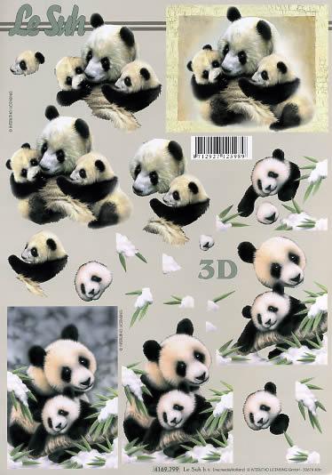 3D Bogen Panda - Format A4,  Tiere -  Sonstige,  Le Suh,  3D Bogen,  Panda