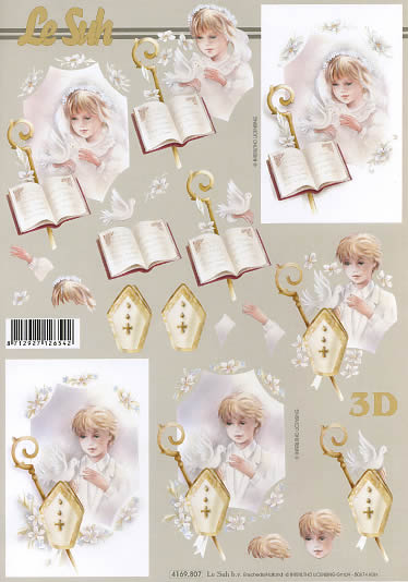3D Bogen Kommunion 2 - Format A4,  Ereignisse - Kommunion,  Le Suh,  3D Bogen,  Kommunion,  Konfirmation