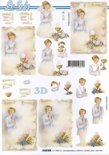 3D Bogen Kommunion Format A4  ,  Ereignisse - Kommunion,  Le Suh,  3D Bogen,  Kommunion,  Konfirmation
