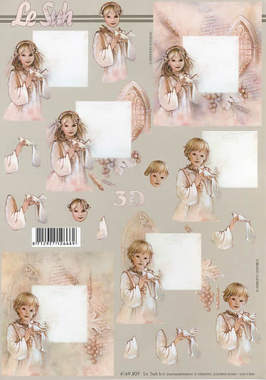 3D Bogen Kommunion 4 - Format A4,  Ereignisse - Kommunion,  Le Suh,  3D Bogen,  Kommunion,  Konfirmation