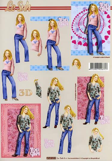 3D Bogen Mädchen Format A4