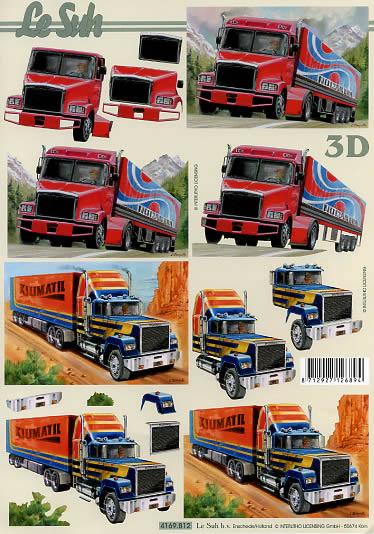 3D Bogen LKW - Format A4,  Fahrzeuge -  Sonstige,  Le Suh,  3D Bogen,  LKW