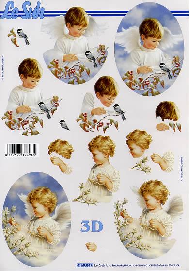 3D Bogen Jungen und Mädchen Engel - Format A4,  Sonstiges -  Sonstiges,  Le Suh,  3D Bogen,  Jungen und Mädchen Engel