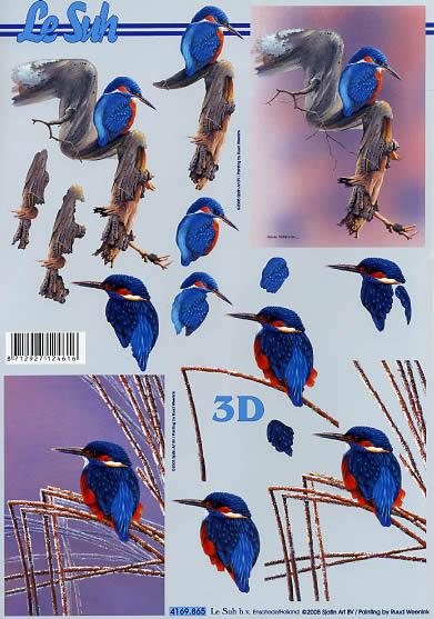3D Bogen Eisvogel - Format A4,  Tiere - Vögel,  Le Suh,  3D Bogen,  Vögel