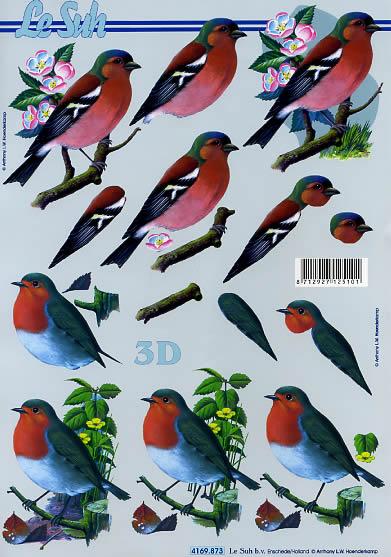 3D Bogen Vögel - Format A4,  Blumen -  Sonstige,  Le Suh,  3D Bogen,  Vögel