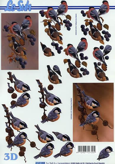 3D Bogen Rotkehlchen - Format A4,  Tiere - Vögel,  Le Suh,  3D Bogen,  Vögel