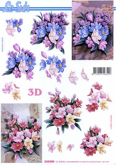 3D Bogen Blumenstrauß Format A4, Blumen -  Sonstige,  Le Suh,  Sommer,  3D Bogen,  Blumenstrauß