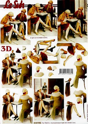 3D Bogen Frauen ist Tisch - Format A4,  Le Suh,  3D Bogen,  Frau