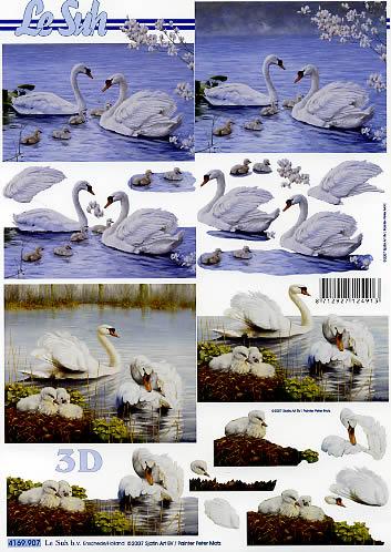3D Bogen Schwan - Format A4