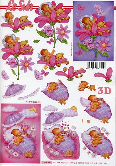 3D Bogen  - Format A4,  Blumen -  Sonstige,  Le Suh,  3D Bogen,  Blumenkind